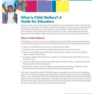 What Is Child Welfare? A Guide for Educators