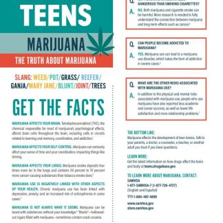 Tips for Teens Marijuana