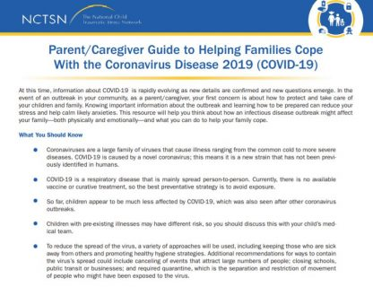 Parent Factsheet